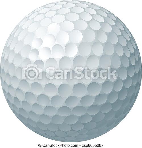 kugel, golfen, abbildung - csp6655087