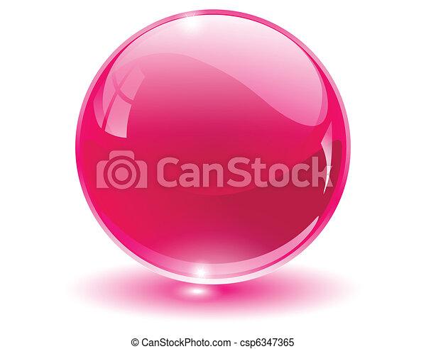 3D-Kristall, Glaskugel - csp6347365