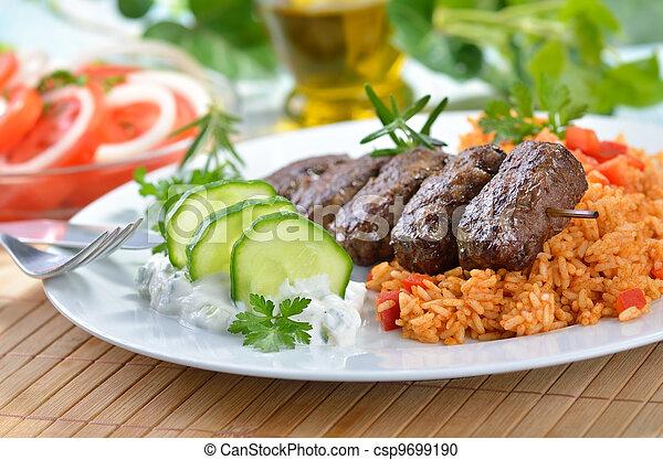 kugeln, griechischer , grillte fleisch - csp9699190