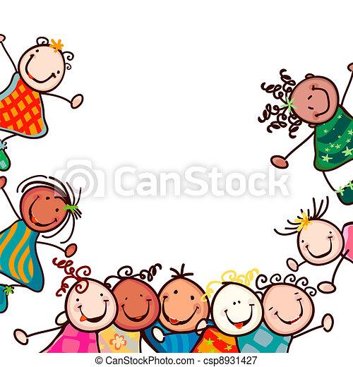 Kinder lächeln - csp8931427