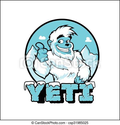 Lächelnder Cartoon Yeti. - csp31985025