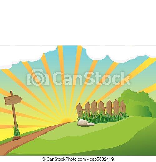 ländliche Landschaft - csp5832419