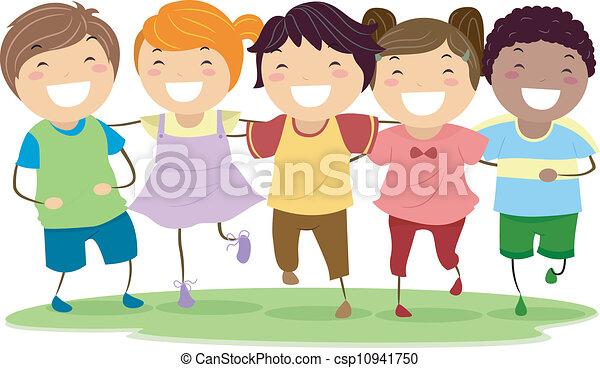 Lachende Kinder - csp10941750