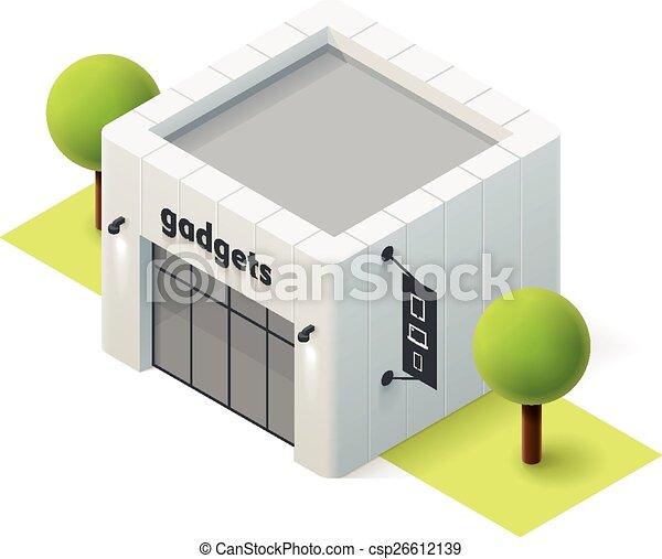 Vector isometrische Gadget-Shop - csp26612139