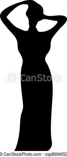Lady Silhouette - csp8694052