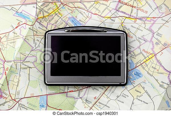 landkarte, gps - csp1940301