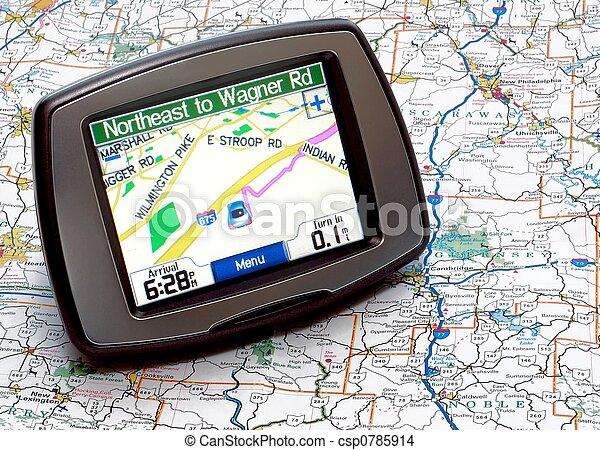 GPS oder Karte - csp0785914