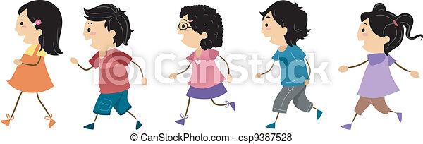 Laufende Kinder - csp9387528