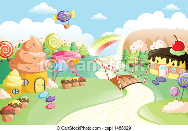 lebensmittel, fantasie, land, lieb - csp11488029