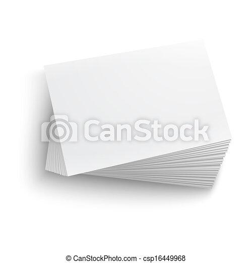 Eine leere Visitenkarte. - csp16449968