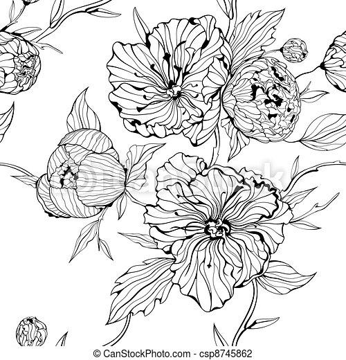 Leichter Hintergrund mit Blumen - csp8745862