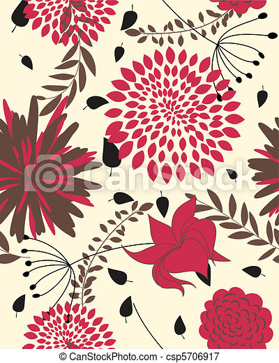 Leichtes Blumenmuster - csp5706917