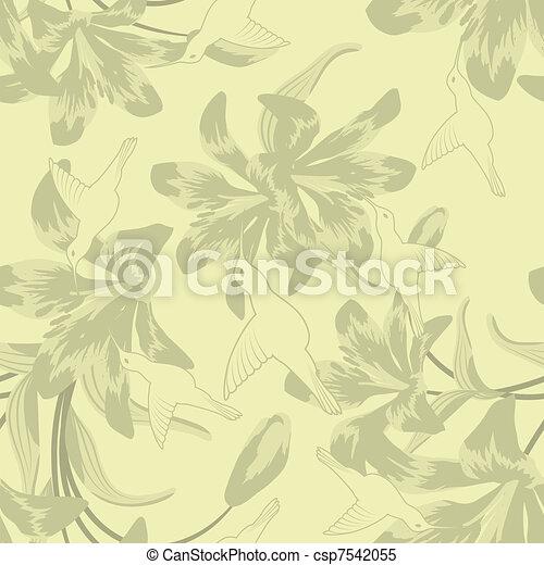 Leichtes Blumenmuster - csp7542055