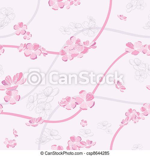 Leichtes Frühjahrsblumenmuster - csp8644285