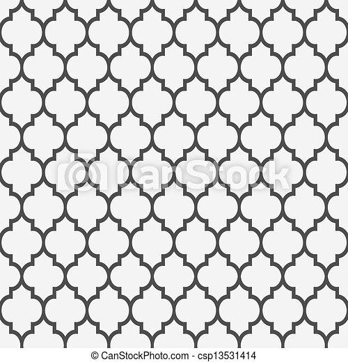 Leichtes Muster im islamischen Stil - csp13531414