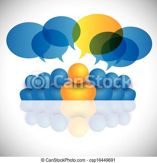 Leitendes Konzept & Führungspersönlichkeit oder Führungspersönlichkeiten von Manager & Büropersonal. - csp16449691