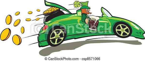 Leprechaun, Cabrio und Treas - csp8571066