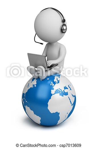 3d kleine Leute - globaler Manager - csp7013609