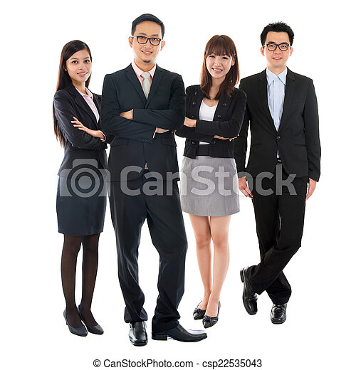 Asiatische multiethnische Geschäftsleute - csp22535043