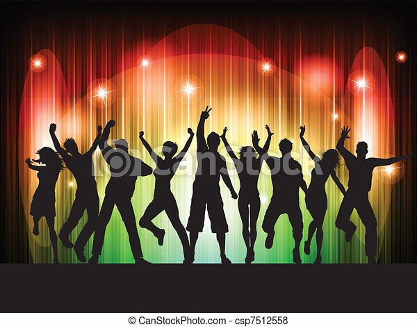 Leute tanzen - csp7512558