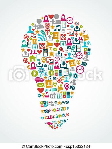 licht, eps10, heiligenbilder, medien, idee, freigestellt, sozial, zwiebel, file. - csp15832124