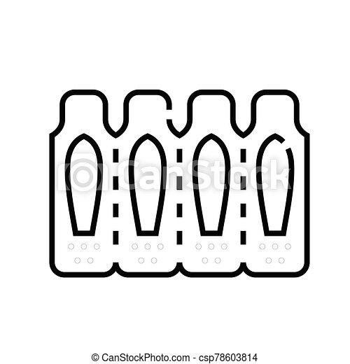 linear, begriff, grobdarstellung, pflaster, ikone, symbol., zeichen, vektor, linie, abbildung - csp78603814