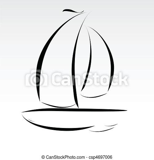 Bootsleitungen illustrieren - csp4697006