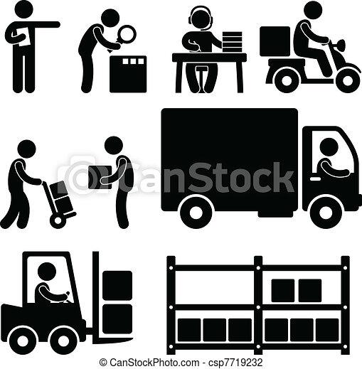Logistische Lagerhaus-Lieferung - csp7719232