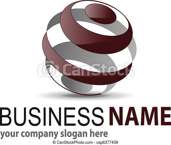 Logo 3D-Sphäre - csp6377439