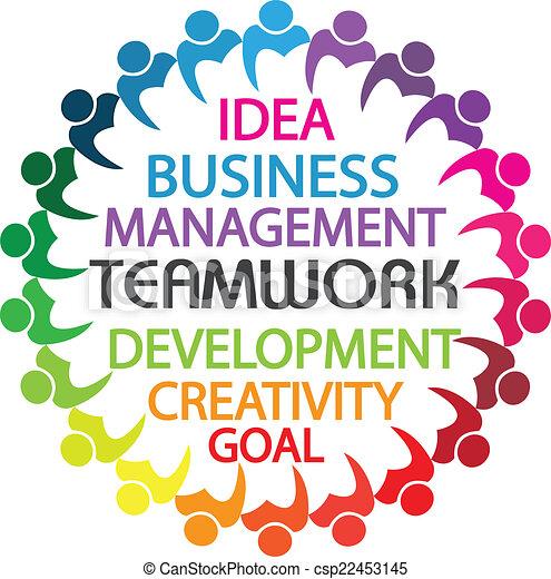 Logo Teamwork Business People Gewerkschaft Konzept. - csp22453145