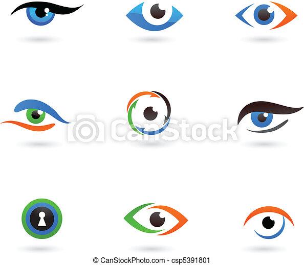 logos, auge - csp5391801