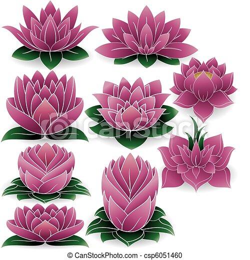 Lotus hat die Farbe von 3 - csp6051460