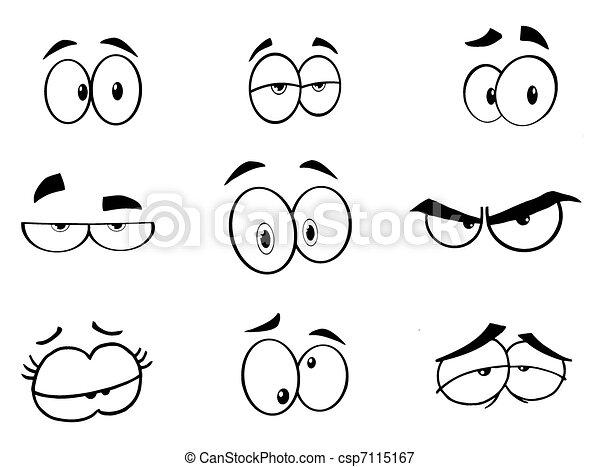 Lustige Augen setzen Sammlung - csp7115167