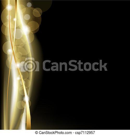 Luxus-Hintergrund Schwarz und Gold - csp7112957