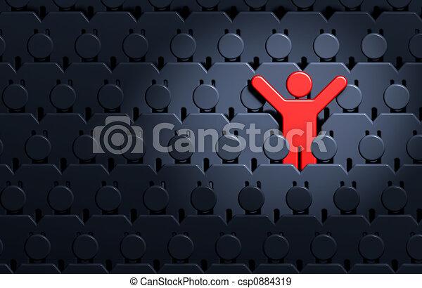 Männer unter Menschenmengen - csp0884319