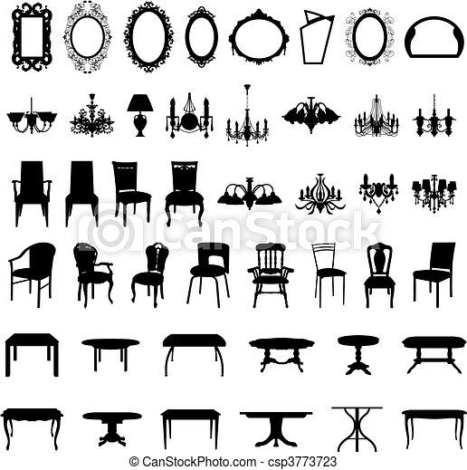 Möbel-Silhouette-Set - csp3773723