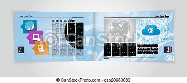 Magazin-Layout. Vector - csp20980083
