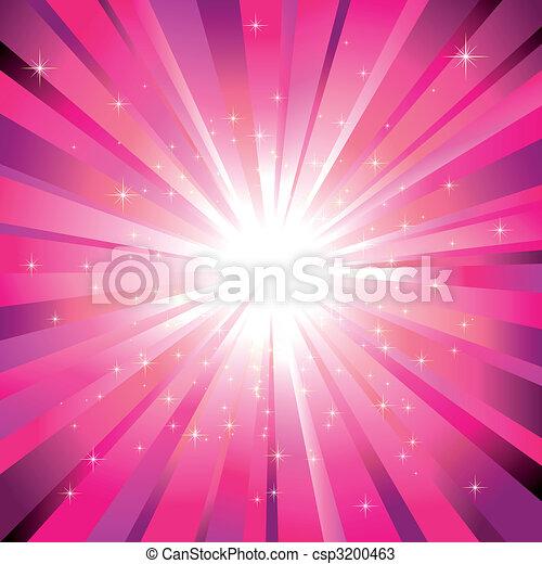 Magenta-Licht zerplatzt mit funkelnden Sternen - csp3200463