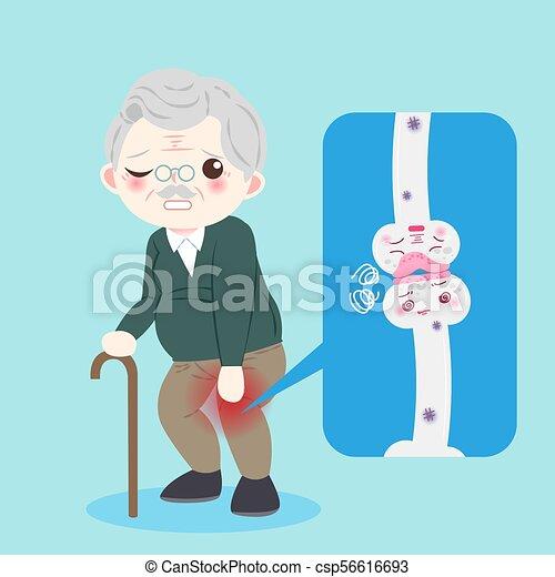 mann, altes , osteoporose - csp56616693