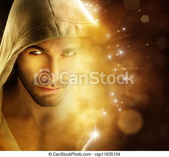 Mann des Lichts - csp11635104