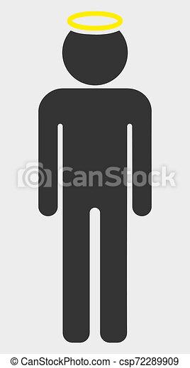 mann, heilig, ikone, abbildung, figur, raster - csp72289909