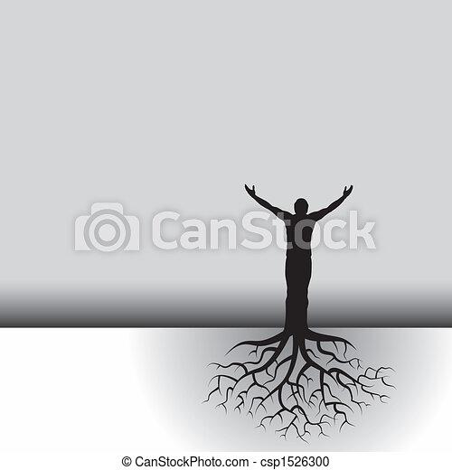 Mann mit Baumwurzeln - csp1526300