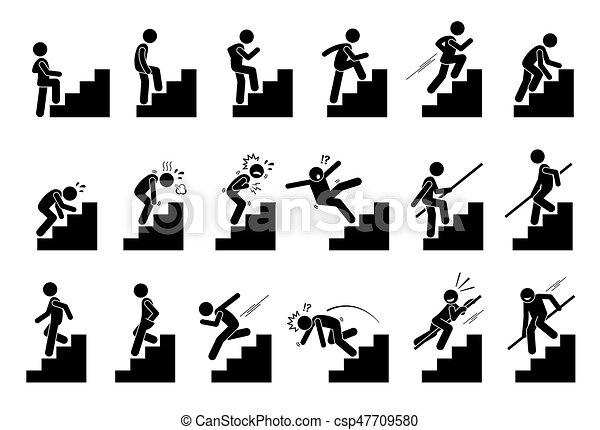 Man steigt Treppen - csp47709580