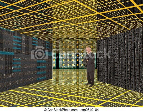 Mann und Computer - csp0640184