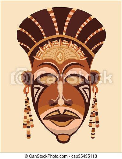 Maskengesicht afrikanische Frauen. - csp35435113