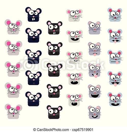 Maus-Emoticons eingestellt. - csp67519901