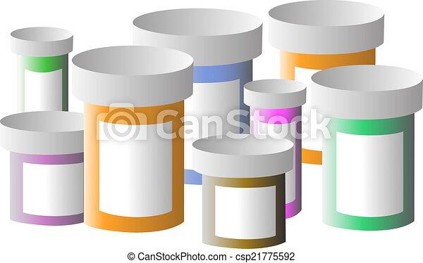 medikation, flaschen - csp21775592