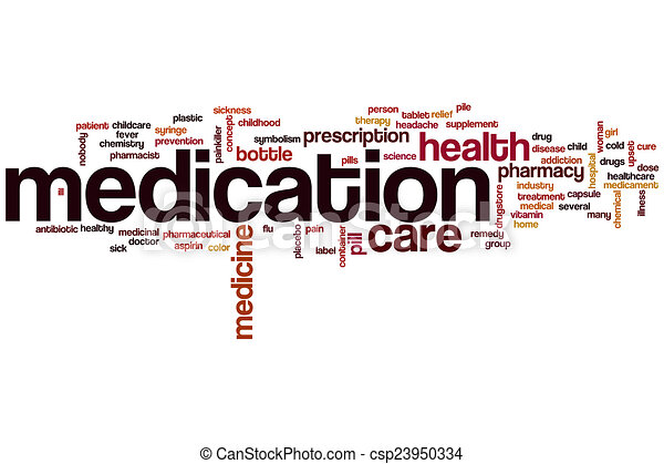 Medizinisches Wort Wolke - csp23950334
