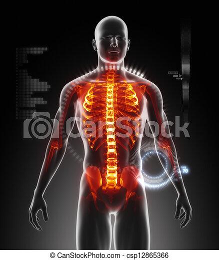 Männlicher medizinischer Scan - csp12865366