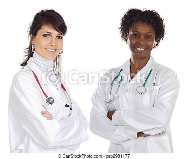 medizin, multi-ethnisch, mannschaft - csp2981177
